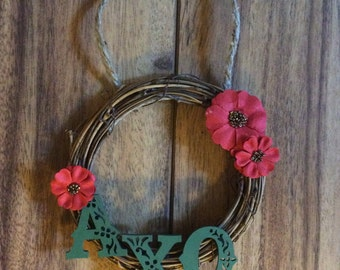 Sorority Mini-Wreath, Door Decoration