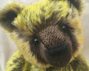 Indy, Ooak mohair artist bear collectible heirloom Alaine Ferreira, Bearflair