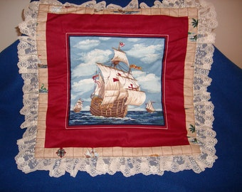 Clipper Ship Pillow Top