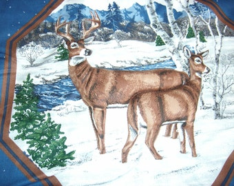 Winter Buck and Doe Pillow Top
