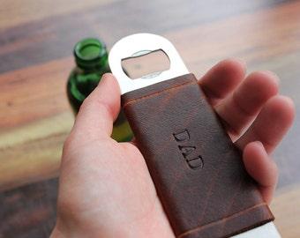 Bottle Opener Bar Blade with Leather Jacket
