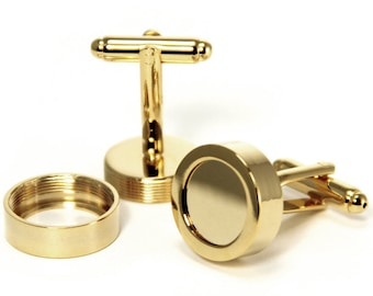 Gold Photo Cuff Links. Make Your Own DIY Custom Photo Cuff Links for the Wedding Party. Annie Howes.