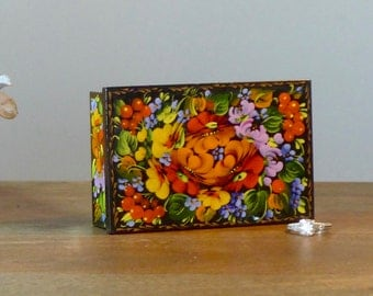 Jewellery box - Painted jewelry box - Wooden trinket box - Treasure box - for her - Valentine's day gift - Unique gift - Gift for her