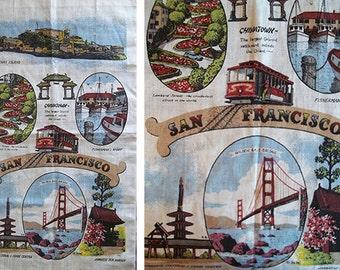 Vintage Kay Dee San Francisco Souvenir Linen Tea Towel