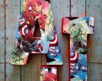 Avengers Marvel Comic Party Decoration/Centerpiece-Single Letter/Number