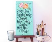 Come Thou Fount of Every Blessing | Hand Painted Canvas