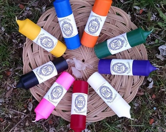 Spell Casters Collection™ Spell Candle Natural Wax Altar Pillar Pagan Ritual Witch Supply Wiccan Wicca Intention