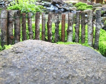 Fairy Garden Fence handcrafted with real wood