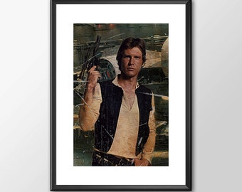 Han Solo Number 2 - Star wars inspired Print - BUY 2 Get 1 FREE