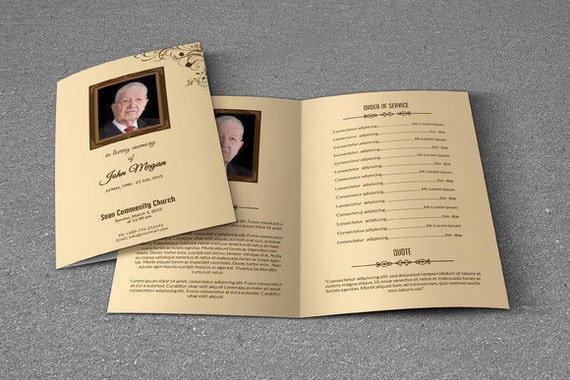Printable Funeral Program Template Obituary Template
