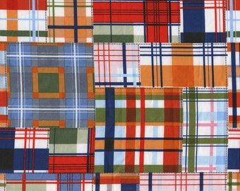 QUILTING COTTON: Michael Miller Patchwork Plaid. Sold by the 1/2 yard