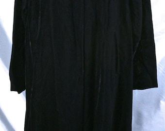 Black Velvet Opera Coat with Satin lining