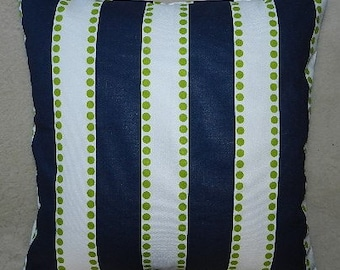 7 Sizes Available - Premier Lulu Navy/Chartreuse Pillow Cover