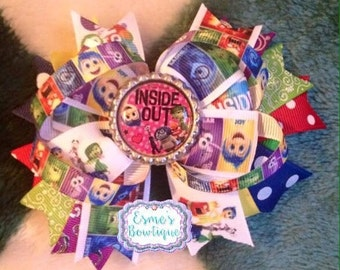 Insideout inspired hair bow 4.5'-5'