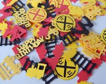Train Party Confetti, Choo Choo Birthday Decor, Personalized Age Confetti, Happy Birthday Confetti, Party Decoration