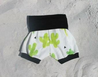Cactus Shorts, organic, baby shorts, toddler shorts, Cactus Bubble Shorts