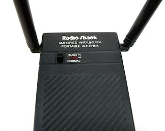 Radio Shack Amplified VHF/UHF/FM Portable Antenna 15-1607 Vintage Electronic