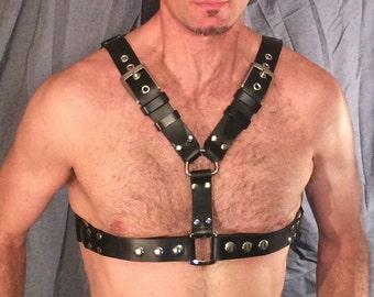 Custom Built 100% Leather Chest Harness