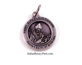 St Alphonsus Ligouri medal Patron Saint of Arthritis Sufferers | Italian Rosary Parts