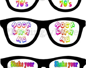 70's party photo props, 70's party, 70 birthday booth props, 70's photo props