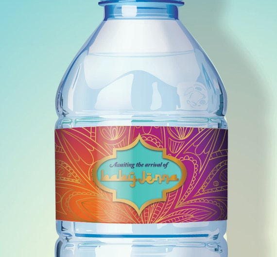 Moroccan Themed Baby Shower Water Bottle Label Printable