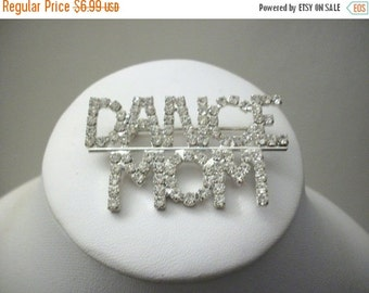 ON SALE Vintage Clear Rhinestones Dance Mom Pin 1245