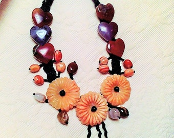 beautiful crocheted nrcklace