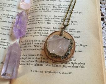 Rosequartz Crystal Necklace
