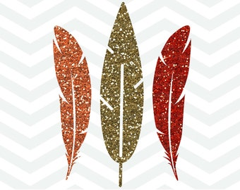 Fall Feathers SVG File, Feathers Cut File, Autumn Cut File, Thanksgiving SVG File, Cut File, Cricut, Silhouette, Thanksgiving, Turkey