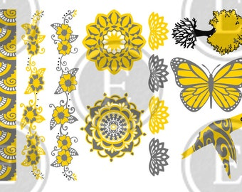 Metallic Tattoo - Nature Sheet