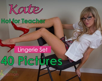 Kate - Hot for Teacher - (Mature, Lingerie) - 40 Pictures