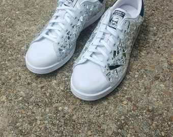 "Adidas Stan Smiths-Customs ""Mirrored Visions"" (Big Kids)"