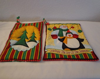 Colorful Handmade Holiday Pot Holders/Hot Pads