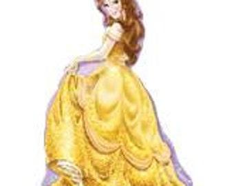 "Belle Beauty & The Beast Balloon, Princess Theme, Disney Princess Theme, Party Decorations, Birthday Party, Sleepover, Disney Theme, 39"""