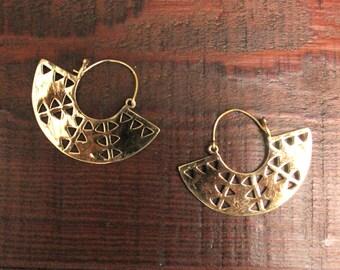 Egyptian Earrings, Brass Earrings, Tribal Earrings, Ethnic Earrings, Festival Earrings, Tribal Jewelry, Indian Jewelry, Indian Earrings