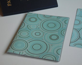Plastic Passport Cover, Circles in Circles Passport  Sleeve, Case, Holder