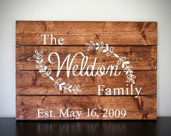Last name wood sign, custom name wood sign, custom wood sign
