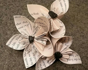 Paper Flowers - Origami Flowers - Boutonniere - Alternative Boutonnieres - Unique Bridal Boutonnieres - Wedding Bouquets