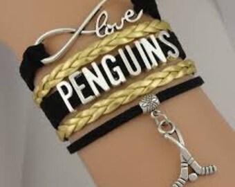 Pittsburgh Penguins Bracelet - Penguins Jewelry, Charm Bracelet- Perfect Stocking Stuffer!!!