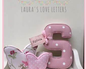 Fabric shapes, butterflies, dogs, padded,  baby room, nursery, baby gift, baby shower, padded letters, wall art,