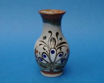 KEN EDWARDS Mexican Studio Pottery VASE - Tonala Mexico - Signed K.E - Art Pottery