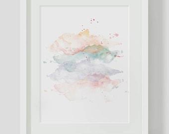 Abstract Watercolor INSTANT DOWNLOAD Art, Watercolor Printables, Watercolor Art, Colorful Print, Abstract Artwork, Digital Art