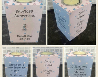 Babyloss Memorial Candle