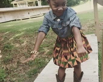 Kente Toddler Skirt