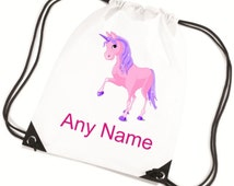 Personalised UNICORN PE/Swim/Gym Bag - *Choice of colours*