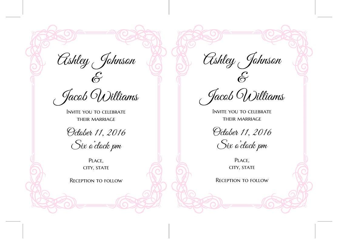 classic wedding invitation templates