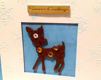 Handmade Christmas Reindeer Card