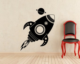 Rocket Vinyl Decal Etsy