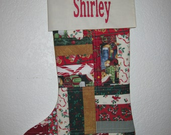 Personalized Crazy Quilted Christmas Stocking