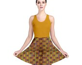 African Kente Reversible Skater Dress
